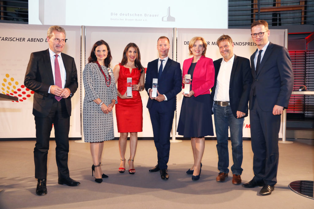 Preisverleihung der Mittelstandsvereinigung der CDU / CSU, alle Preisträger und Laudatoren. Bildquelle: MIT Bund