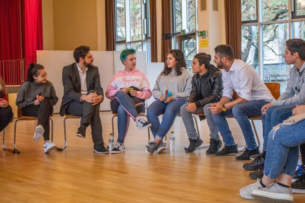 """Integration durch Schule"" mit Comedian Amjad"